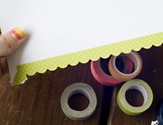 Border Punches with Decorative Tape:: A Scrapbook Tutorial