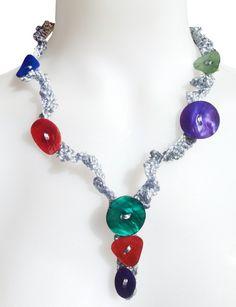 Collar botón nácar * Diana Hechoamano * Feria Central