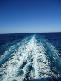 view from back of cruise ship.  I love the endless horizon
