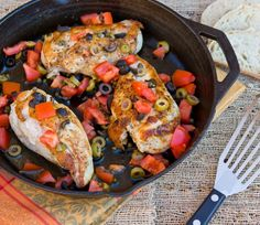 Skillet Chicken with Olives and Tomatoes