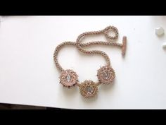 Beaded necklace: necklace made with crystals, daggers and Chenille stitch | Beaded Jewellry - YouTube