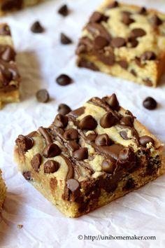 Nutella Swirl Chocolate Chip Blondies