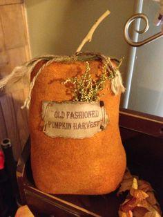 Wool Pumpkin Tuck/ Primitive Fall Decor by KelsCountryBlessings, $8.95