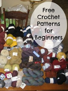 Free Crochet Patterns for Beginners – MomPrepares