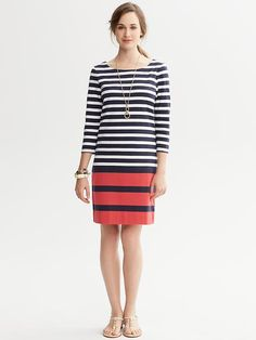 Banana Republic Striped T Shirt Dress