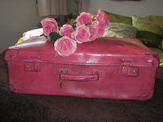 upcycled suitcase.