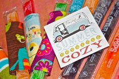 Popsicle Cozy - gift tag & pattern craft, popsicl cozi, patterns, goodie bags, ice pop, gifts, gift tags, dish towels, kid