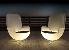 lights, decks, seat, outdoor chairs, glow, terraces, design, terrac chair, stainless steel