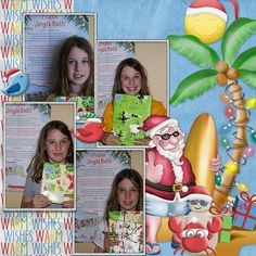 Summer Santa Page Kit by #NibblesScribbles & #Valentina #christmasinjuly #theStudio #digitalscrapbooking