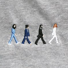 takudeath: アビイ・ロード 28IF - Graphic Equalizer beatl live, stuff, textiles stage, art, beatles abbey road, stitch, road embroideri, roads, embroidery