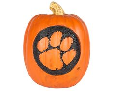 Clemson Tiger Poly-Resin Pumpkin   #Clemson #ClemsonTigers #ClemsonUniversity #Tigers #CU