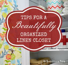 Organize and tidy up your linen closet with this great how-to via Simplicity in the South