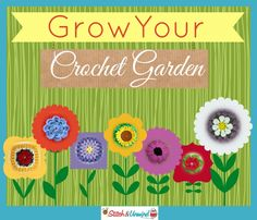 Grow Your Crochet Garden: Links to 28 Flower Crochet Squares (free patterns) on Stitch & Unwind