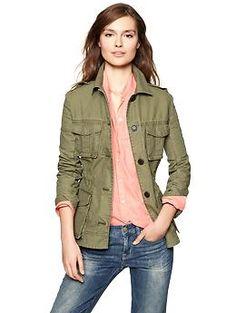 Canvas military jacket | Gap