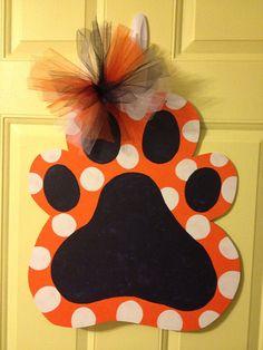 Auburn Tiger Paw Door Hanger on Etsy, $40.00