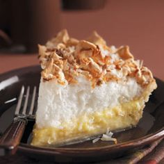 Coconut Cream Angel Pie cream pies, coconuts, cream angel, angel pie, pie recipes, coconut cream, angels, food cakes, dessert