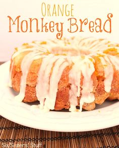 Orange Monkey Bread Recipe | Six Sisters' Stuff               I think I would frost it with chocolate frosting instead!