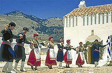 Cretans are fiercely proud of their island and customs, and men often don elements of traditional dress in everyday life: knee-high black riding boots (stivania), vráka breeches tucked into the boots at the knee, black shirt and black headdress consisting of a fishnet-weave kerchief worn wrapped around the head or draped on the shoulders (the sariki). Blessed to have met you.