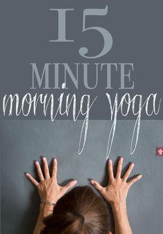 Pin it! 15 Minute morning yoga video. Photo: Manduka eKo Lite mat  (review)Video: Manduka black mat PRO (review)