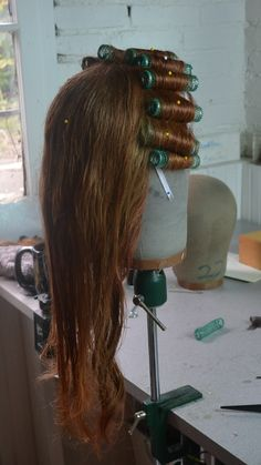 Using rollers in a wig