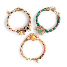 J.Crew corded jewel bracelets. bling, fashion, jewel bracelet, bracelets, accessori, j crew bracelet, inspir, cord jewel, diy projects
