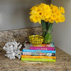 Use cute cereal bowls from HomeGoods to hold keys and loose change that would otherwise clutter your counters.  #HomeGoods #HomeGoodsHappy #sponsored