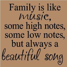 Family is Like Music...Family Wall Quote