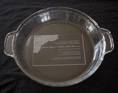 Personalized Pie Plate Glass Etched
