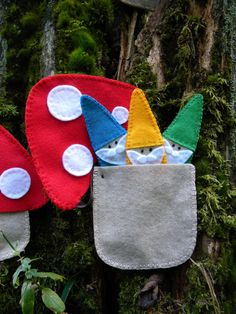 Gnome finger puppet set