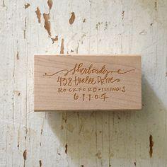 pretty writing address stamp