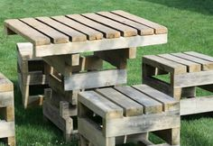 Pallet furniture garden set.
