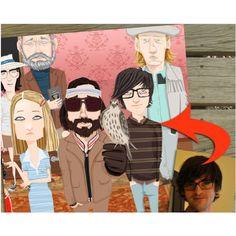 family portraits, famili portrait, families, custom tennenbaum, tennenbaum famili, face drawn
