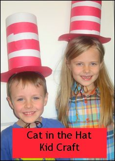Cat in the Hat Kids Craft... from oatmeal container