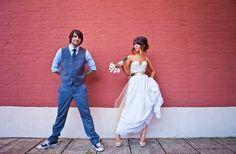 Read all about Jenna & Jason's laid back rocker chic wedding on Poptastic Bride. Photos by Matt Andrews.
