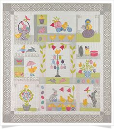 """Chick Jubilee"" BOM by Anne Sutton at Bunny Hill Designs"