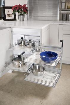 kitchen organization, dead corner kitchen, cabinet organization, corner cabinets, magic corner, custom cabinets, cabinet accessori, dream kitchens, kitchen cabinets