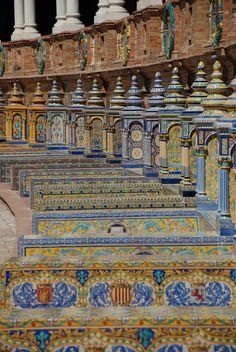 Plaza de España, Seville, Andalusia, Spain