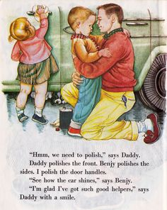 We Help Daddy by Mini Stein, illustrated by Eloise Wilkin.