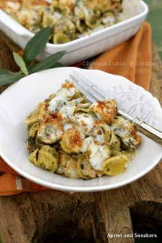 Baked Orecchiette with Broccoli Rabe, Sausage & Bechamel Sauce