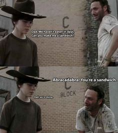 The 19 Greatest Dad Jokes From Rick Grimes... Still laughing and my wife is just rolling her eyes and telling me to goto sleep