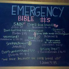 emergency bible verses