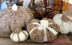 How to make Sweater Pumpkins - www.ConcordCottage.com #Pumpkin #SweaterPumpkin #Fall #FallDecorating