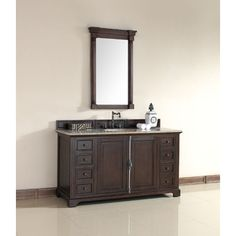 "James Martin Providence Collection 60"" Single Bathroom Vanity, Sable 238-105-5331"