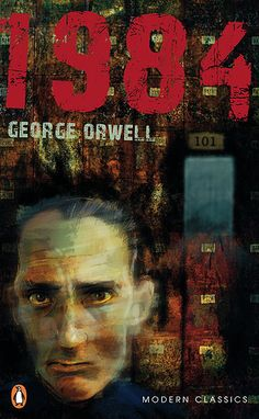 1984 by George Orwell - book cover illustration by Jeremy Norton