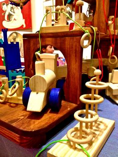 Handmade wooden toys for children