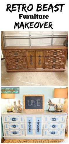 #furnituremakoever before #retro furnitur makeov, furniture makeover