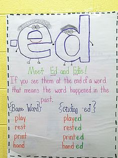Cute way to teach the inflected ending (ed)