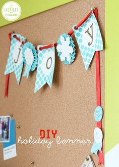 Holiday 'Joy' banner  Stampin' Up!