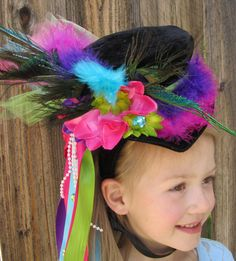 Mini Mad Hatter Top Hat on Headband