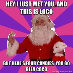 You go Glen Coco!! Haha